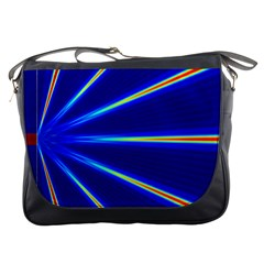 Light Neon Blue Messenger Bags