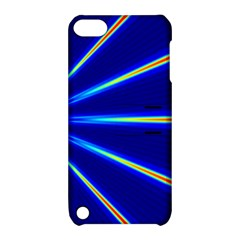 Light Neon Blue Apple iPod Touch 5 Hardshell Case with Stand