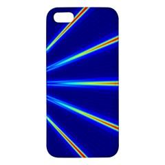 Light Neon Blue iPhone 5S/ SE Premium Hardshell Case