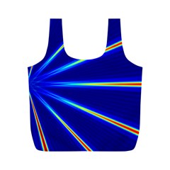 Light Neon Blue Full Print Recycle Bags (M)