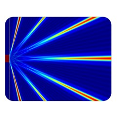 Light Neon Blue Double Sided Flano Blanket (Large)