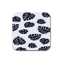 Leaf Summer Tech Rubber Square Coaster (4 Pack)
