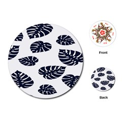 Leaf Summer Tech Playing Cards (Round)