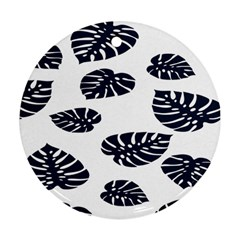 Leaf Summer Tech Round Ornament (Two Sides)