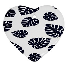 Leaf Summer Tech Heart Ornament (Two Sides)