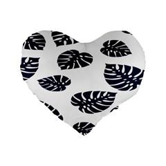 Leaf Summer Tech Standard 16  Premium Heart Shape Cushions