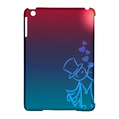 Love Valentine Kiss Purple Red Blue Romantic Apple iPad Mini Hardshell Case (Compatible with Smart Cover)