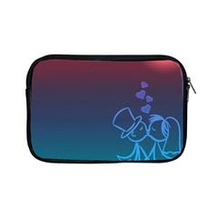Love Valentine Kiss Purple Red Blue Romantic Apple iPad Mini Zipper Cases