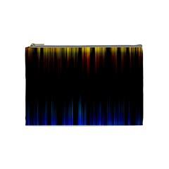 Light Orange Blue Cosmetic Bag (Medium)