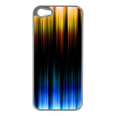 Light Orange Blue Apple iPhone 5 Case (Silver)