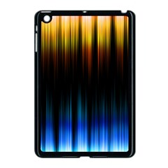 Light Orange Blue Apple iPad Mini Case (Black)
