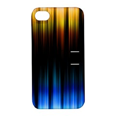 Light Orange Blue Apple iPhone 4/4S Hardshell Case with Stand