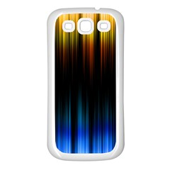 Light Orange Blue Samsung Galaxy S3 Back Case (White)