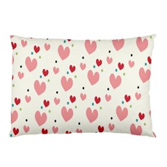 Love Heart Pink Polka Valentine Red Black Green White Pillow Case