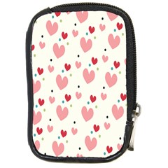 Love Heart Pink Polka Valentine Red Black Green White Compact Camera Cases