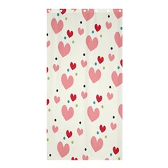 Love Heart Pink Polka Valentine Red Black Green White Shower Curtain 36  x 72  (Stall)