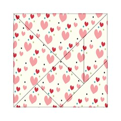 Love Heart Pink Polka Valentine Red Black Green White Acrylic Tangram Puzzle (6  x 6 )