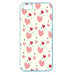 Love Heart Pink Polka Valentine Red Black Green White Apple Seamless iPhone 5 Case (Color)