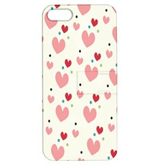 Love Heart Pink Polka Valentine Red Black Green White Apple iPhone 5 Hardshell Case with Stand