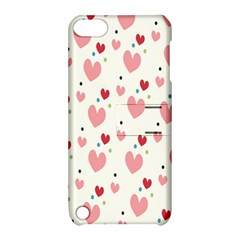 Love Heart Pink Polka Valentine Red Black Green White Apple iPod Touch 5 Hardshell Case with Stand