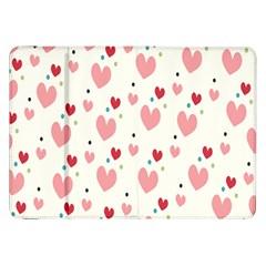 Love Heart Pink Polka Valentine Red Black Green White Samsung Galaxy Tab 8.9  P7300 Flip Case