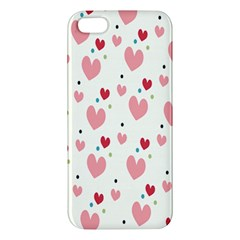 Love Heart Pink Polka Valentine Red Black Green White iPhone 5S/ SE Premium Hardshell Case