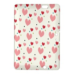 Love Heart Pink Polka Valentine Red Black Green White Kindle Fire HDX 8.9  Hardshell Case