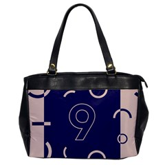 Number 9 Blue Pink Circle Polka Office Handbags