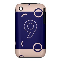 Number 9 Blue Pink Circle Polka iPhone 3S/3GS