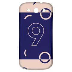 Number 9 Blue Pink Circle Polka Samsung Galaxy S3 S III Classic Hardshell Back Case