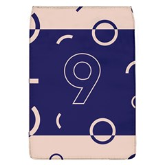 Number 9 Blue Pink Circle Polka Flap Covers (L)
