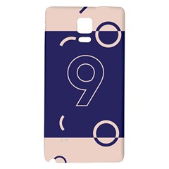 Number 9 Blue Pink Circle Polka Galaxy Note 4 Back Case