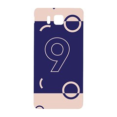 Number 9 Blue Pink Circle Polka Samsung Galaxy Alpha Hardshell Back Case