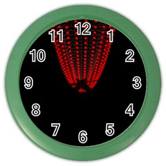 Normal Field Of An Elliptic Paraboloid Red Color Wall Clocks