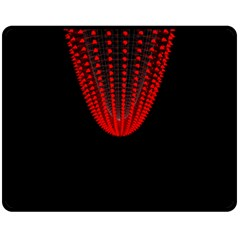 Normal Field Of An Elliptic Paraboloid Red Fleece Blanket (Medium)