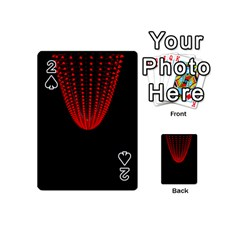 Normal Field Of An Elliptic Paraboloid Red Playing Cards 54 (Mini)