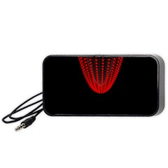 Normal Field Of An Elliptic Paraboloid Red Portable Speaker (Black)