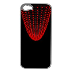 Normal Field Of An Elliptic Paraboloid Red Apple iPhone 5 Case (Silver)