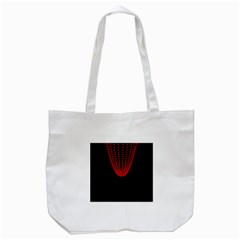 Normal Field Of An Elliptic Paraboloid Red Tote Bag (White)
