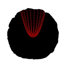 Normal Field Of An Elliptic Paraboloid Red Standard 15  Premium Flano Round Cushions