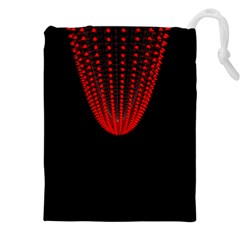 Normal Field Of An Elliptic Paraboloid Red Drawstring Pouches (XXL)