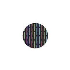 Pencil Stationery Rainbow Vertical Color 1  Mini Buttons