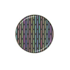 Pencil Stationery Rainbow Vertical Color Hat Clip Ball Marker (10 pack)