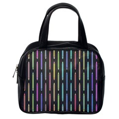 Pencil Stationery Rainbow Vertical Color Classic Handbags (one Side)