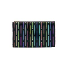 Pencil Stationery Rainbow Vertical Color Cosmetic Bag (Small)