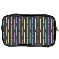 Pencil Stationery Rainbow Vertical Color Toiletries Bags 2-Side