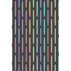Pencil Stationery Rainbow Vertical Color 5.5  x 8.5  Notebooks