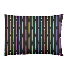 Pencil Stationery Rainbow Vertical Color Pillow Case (Two Sides)