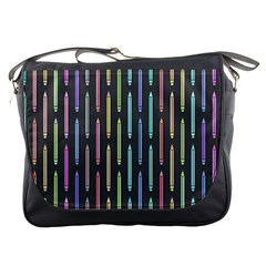 Pencil Stationery Rainbow Vertical Color Messenger Bags
