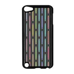 Pencil Stationery Rainbow Vertical Color Apple iPod Touch 5 Case (Black)